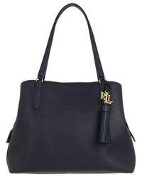 Lauren by Ralph Lauren Quinn 34 Shoulder Bag Large - Blue