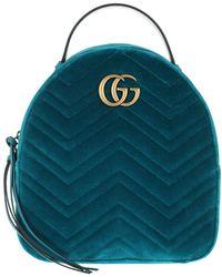f75366e6f58 Gucci GG Marmont Velvet Backpack in Black - Lyst