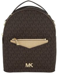 Michael Kors - Jessa Sm Convertible Backpack Brown/pale Gold - Lyst