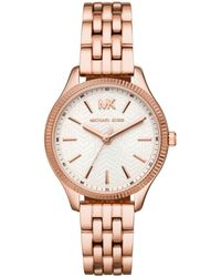 8019f145e769 Michael Kors Lexington Silver And Gold-tone Watch in Metallic - Lyst