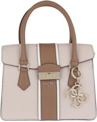 Guess - La Hip Small Flap Satchel Cameo Multi - Lyst