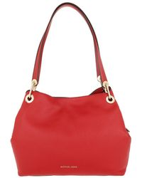 cb4cbac676d8 Michael Kors Textured-leather Tote Bright Pink in Pink - Lyst