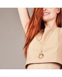 Rachel Jackson London Sunrays Necklace Large - Metallic