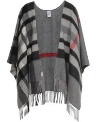 Fraas Ruana Wool Mid Grey - Gris