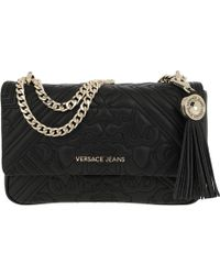 28f9f126d9a6 Versace Jeans - Embroidered Chain Crossbody Bag Black - Lyst