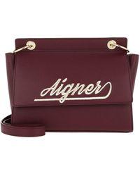 Aigner Gloria S Crossbody Bag Burgundy - Rouge