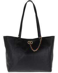 DKNY Linton Brushed Tote Bag Black/Gold - Noir