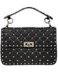 Valentino Rockstud Spike Crossbody Bag Medium Nero - Noir