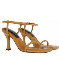 Proenza Schouler Cecil Padded Ankle Strap Sandal - Orange