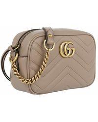 Gucci GG Marmont Matelassé Mini Bag - Grijs