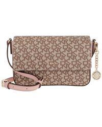 DKNY Bryant Medium Flap Crossbody Bag Chino/Cashmere - Neutre