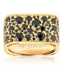 Sif Jakobs Jewellery Novara Quadrato Ring Black - Métallisé
