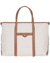 Michael Kors - Medium Convertible Tote Bag Vanilla/Acorn - Lyst