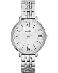 Fossil - Es3433 Jacqueline Silver Ladies Bracelet Watch - Lyst