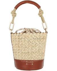 Vanessa Bruno Holly Mini Bucket Bag Cognac - Brown