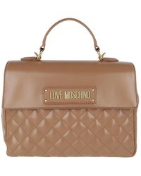 Love Moschino Handbag Quilted Faux Leather Caramello - Marron