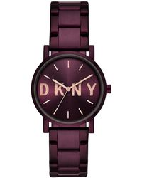DKNY - Soho Watch Ladies Purple - Lyst