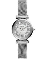 Fossil Carlie Mini Watch - Metallic