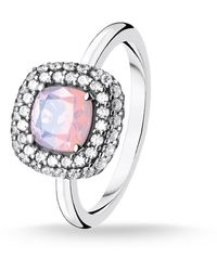 Thomas Sabo Ring Shimmering Pink Opal Colour Effect - Multicolore