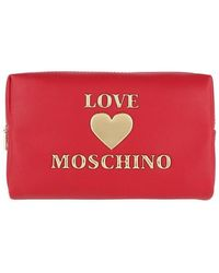 Love Moschino Makeup Bag PU - Rouge
