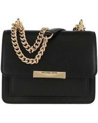 MICHAEL Michael Kors Grand sac à bandoulière Jade en cuir - Noir