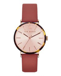 Ted Baker Watch Phylipa Bordeaux - Red