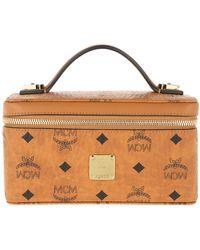 MCM Visetos Original Cosmetic Case Cognac - Multicolour