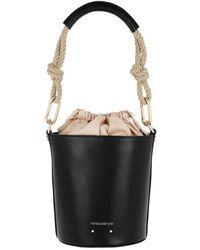 Vanessa Bruno Holly Mini Bucket Bag Noir - Black