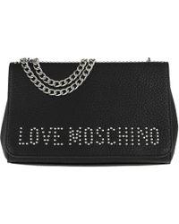 Love Moschino - Grain Crossbody Bag Nero/nickel - Lyst