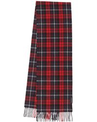 Tommy Hilfiger Uptown Wool Scarf Check Red Check - Rouge