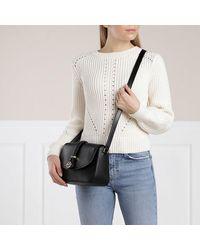 Michael Kors Medium Flap Messenger Handbag Leather - Zwart