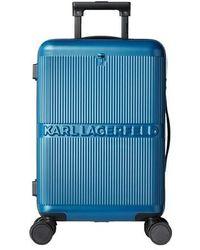 Karl Lagerfeld K/Ikonik Hardcase Trolley - Bleu