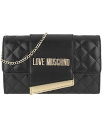 28826fe371d8 Love Moschino Quilted Nappa Chain Crossbody Bag Nero in Black - Lyst