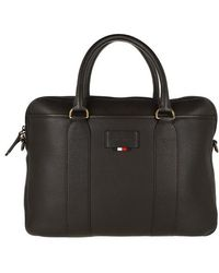 Tommy Hilfiger Casual Computer Bag Leather - Brown