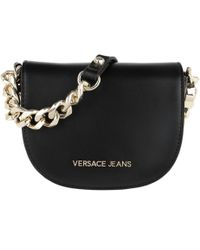 Versace Jeans Embroidered Chain Crossbody Bag Black in Black - Lyst 984465533fe9d