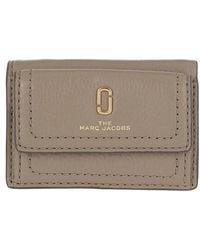 Marc Jacobs The Softshot Mini Trifold Wallet - Gris