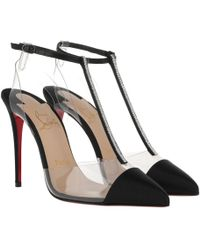 187040c6c7d Christian Louboutin Perucora Suede Pumps in Black - Lyst