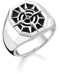 Thomas Sabo Ring Compass - Noir