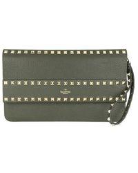 Valentino Garavani - Rockstud Clutch Leather - Lyst