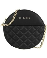 Ted Baker Cirrcus Quilted Circle Mini Crossbody - Black