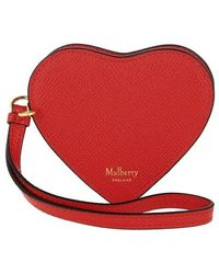 Mulberry Heart Coin Zip Purse Grain - Rouge