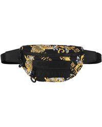 Versace Jeans Macrologo Belt Bag Black/Gold - Schwarz