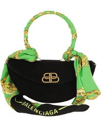 Balenciaga - Opera Pochette Black/green - Lyst
