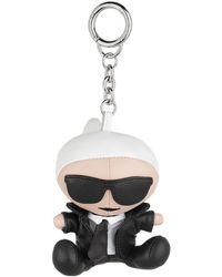 Karl Lagerfeld K/Ikonik Karl Doll Keychain Black - Noir