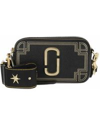 Marc Jacobs The Snapshot Gilded Leather - Noir