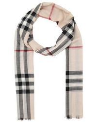 Burberry Giant Check Scarf - Gris
