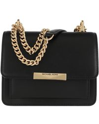 Michael Kors Jade Extra-Small Leather Crossbody Bag - Noir