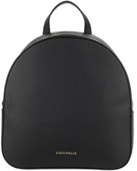Coccinelle Mini Backpack Leather Noir - Black