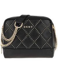 DKNY Sofia Double Chain Shoulder Bag Black Gold - Noir