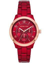 Michael Kors - Runway Jetset Ladies Watch Red/roségold - Lyst